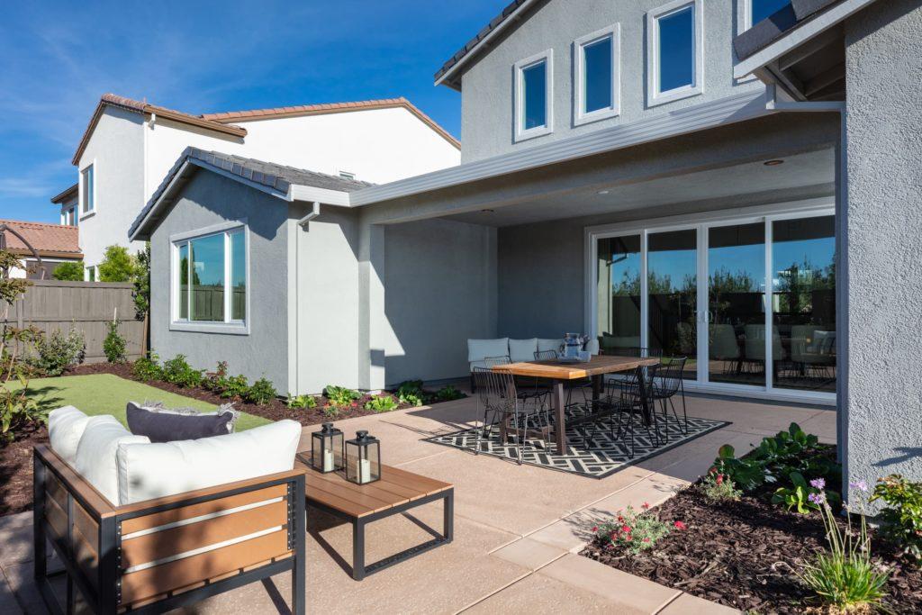 Berkshire by Woodside Homes at Ellis - Plan 4 Backyard