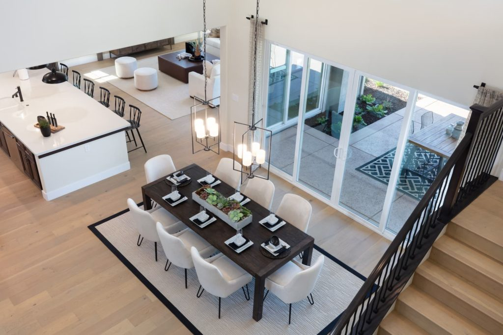 Dining room of Berkshire Plan 4 at Ellis in Tracy, CA
