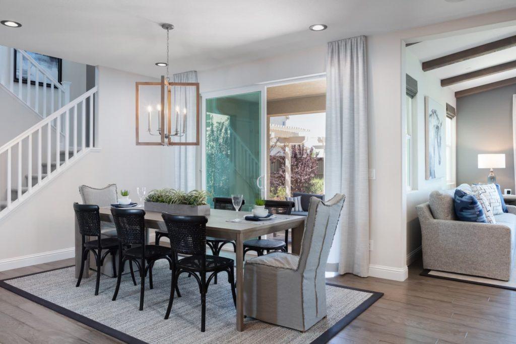 Dining room of Zephyr Plan 4 at Ellis in Tracy, CA