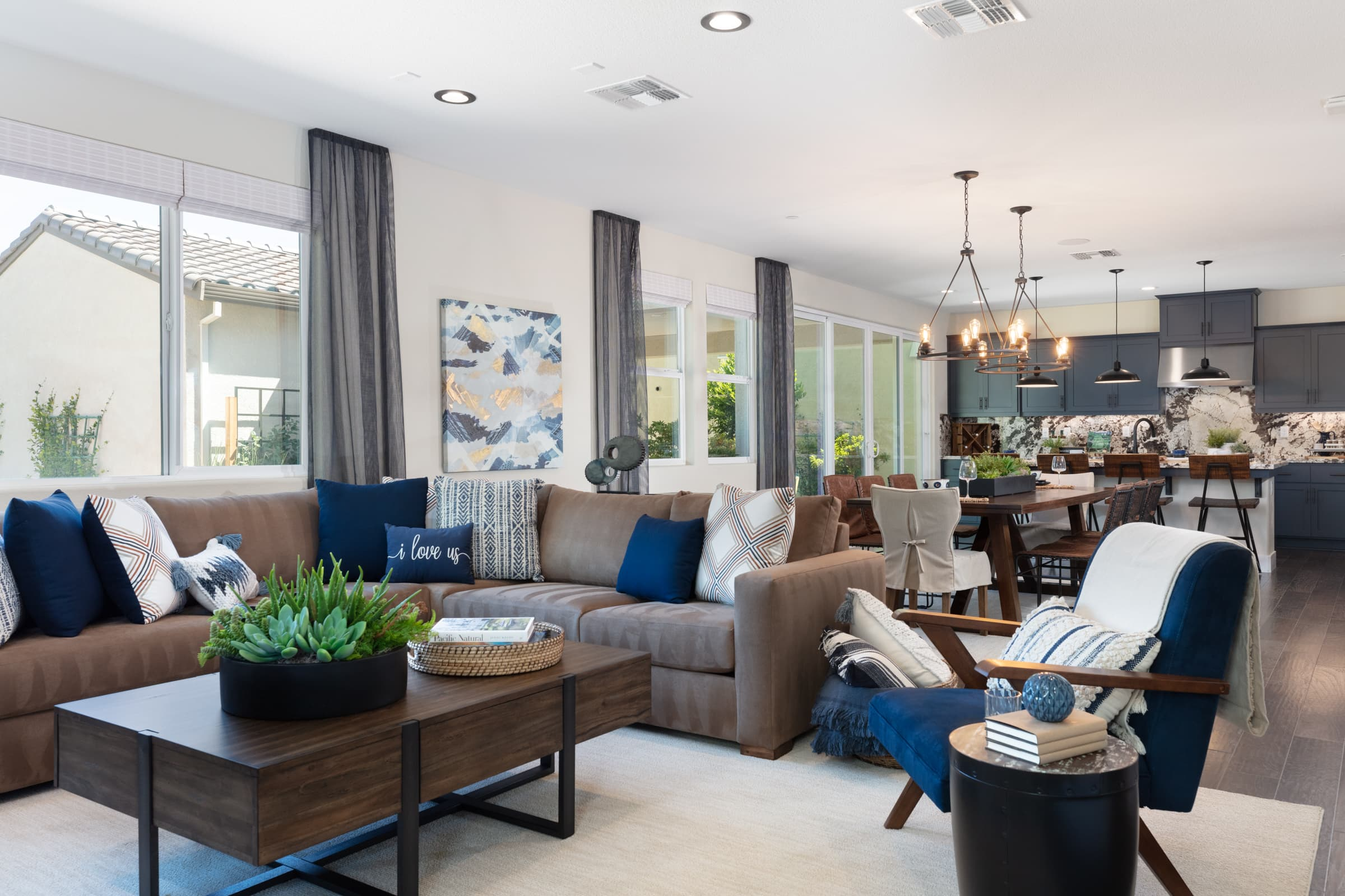 Living room of Stanford Plan 2 at Ellis in Tracy, CA