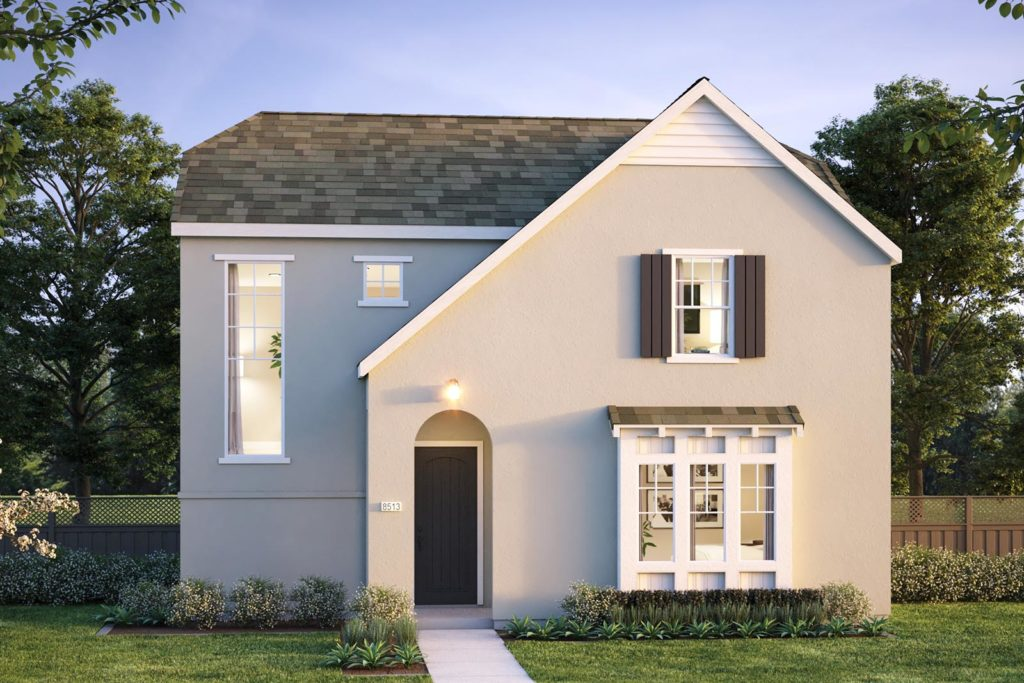 Exterior rendering of Plan 1 - Townsend at Ellis in Tracy, CA