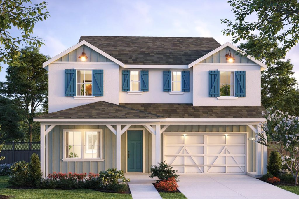 Exterior rendering of Plan 10 - Hartwell at Ellis in Tracy, CA