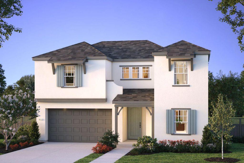 Exterior rendering of Plan 6 - Kinbridge at Ellis in Tracy, CA