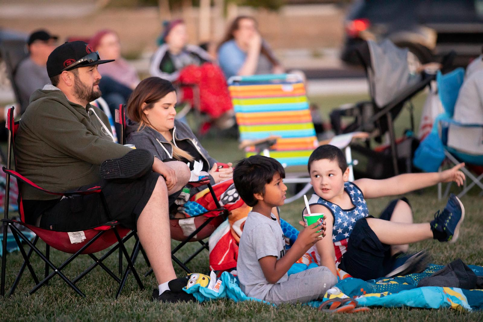 Movie in the Park at Ellis in Tracy, California
